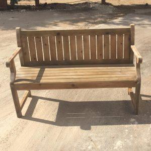ספסל עץ כולל משענת 160/38 גובה 45