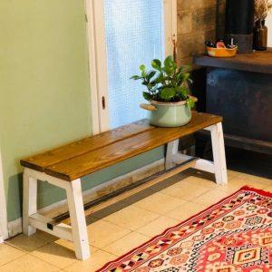 ספסל עץ ללא משענת 120/30 גובה 45