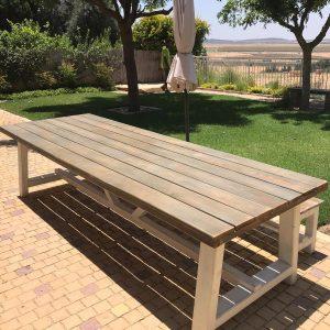 שולחן עץ 100/250